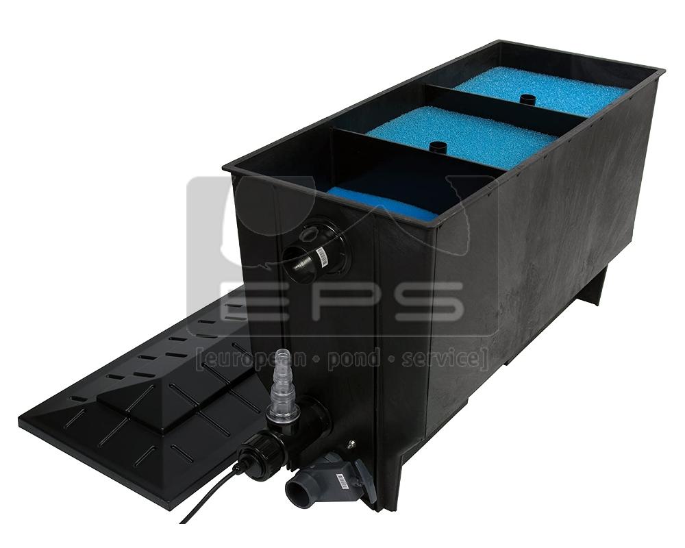Aufsatzfilter 220 l schwarz mit Deckel