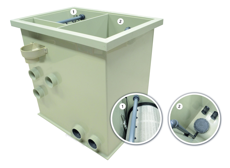 FW  Trommelfilter Combi Next EcoLine -  bis 30 m³/Std. incl. 40 Watt Amalgam UVC mit Timer