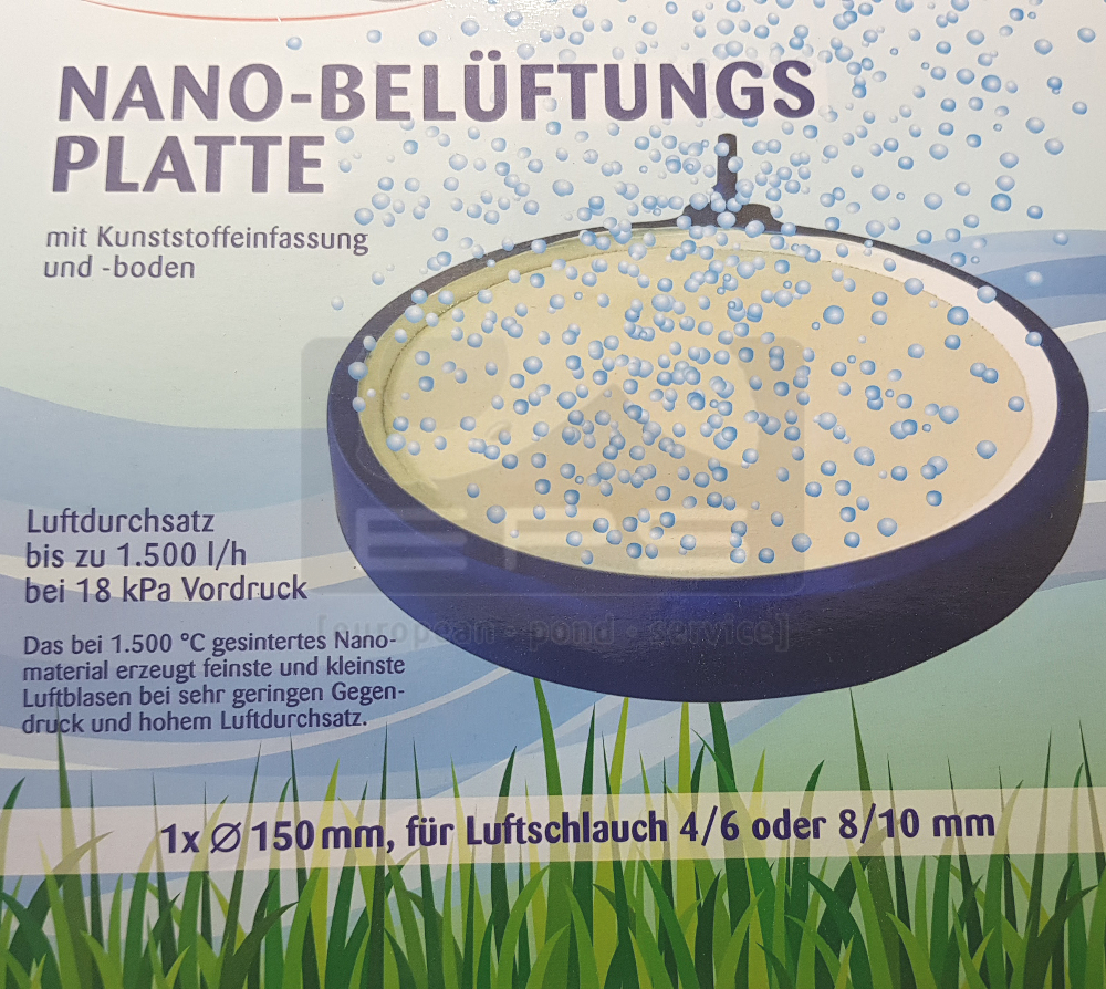 Belüfterplatte NANO Ø 200 mm - mit Kunststoffeinfassung