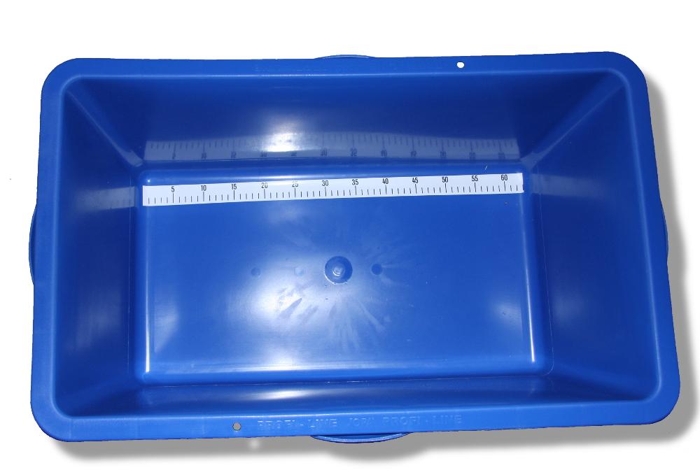 Messwanne 72 x 42 x 30 cm 90 l blau