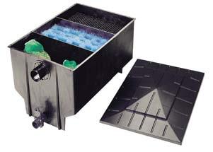 3-Kammerfilter 330 l im Karton inkl. Füllpaket
