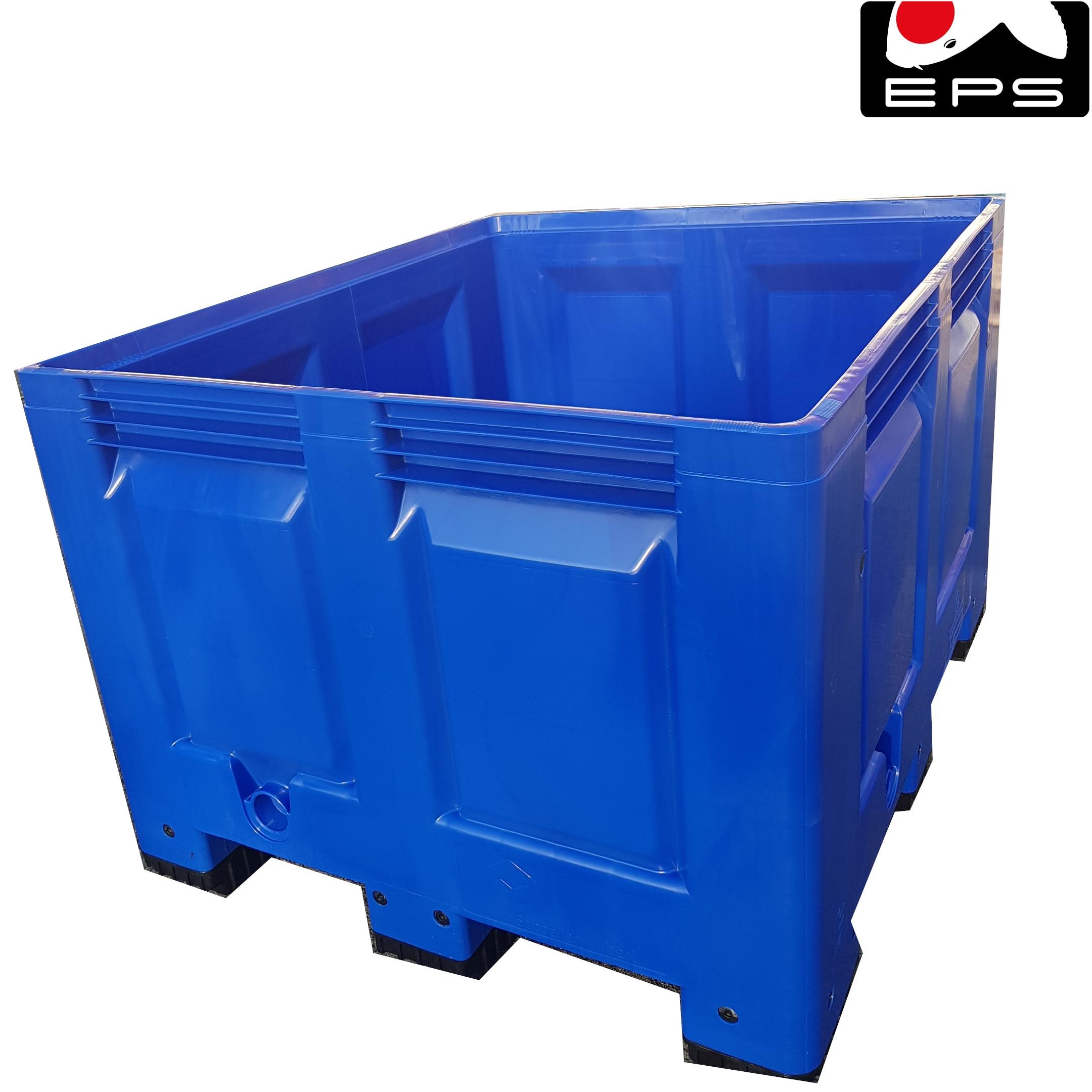 Hälterungsbecken Koibecken Quarantänebecken 610 Liter blau 120x100x80 cm