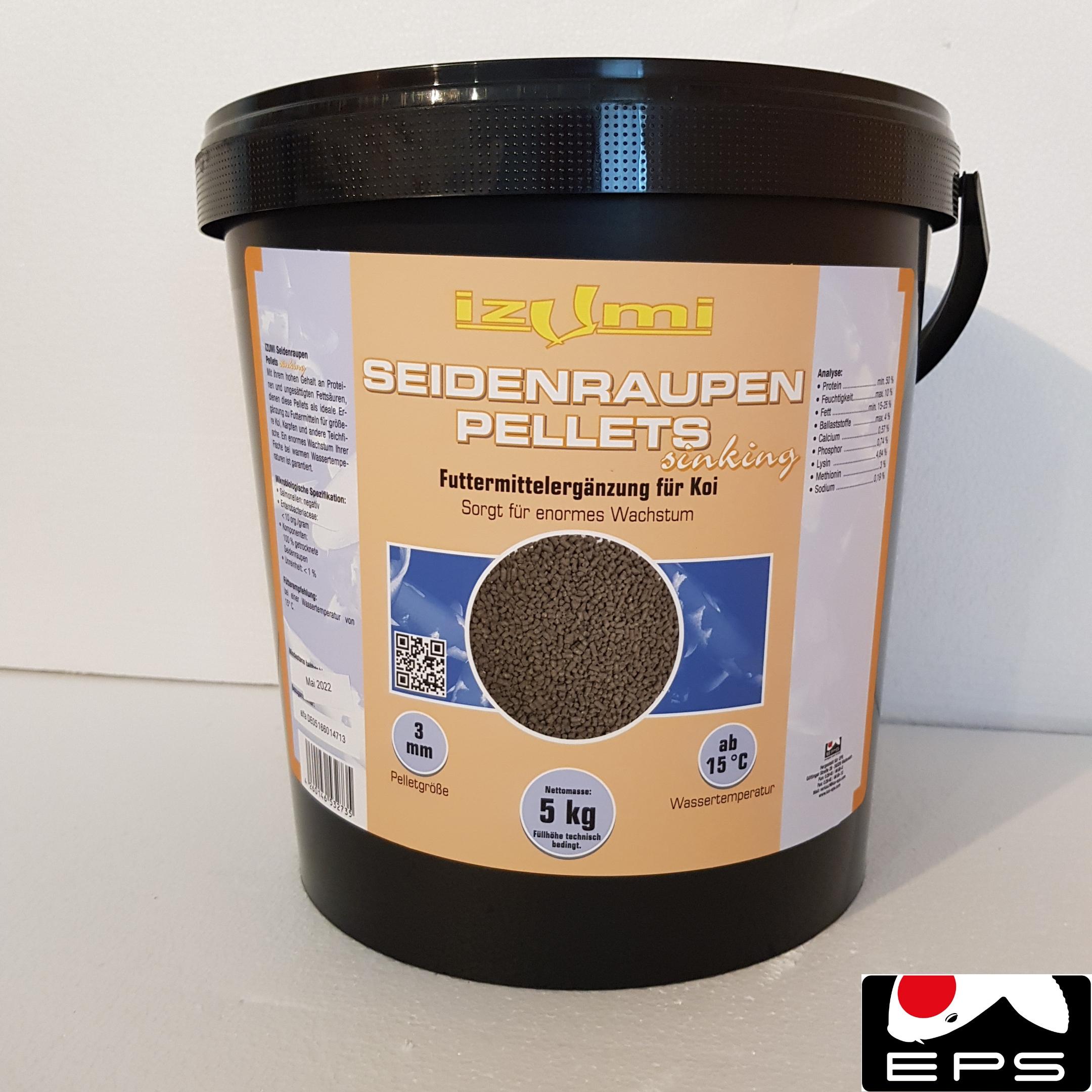 Izumi Seidenraupen Pellets 5 kg - sinkend