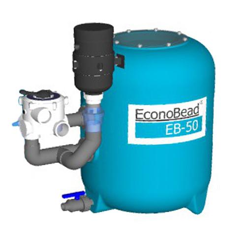 "EconoBeadfilter EB50 50 mm Verrohr. 1 1/2"" Ventil"