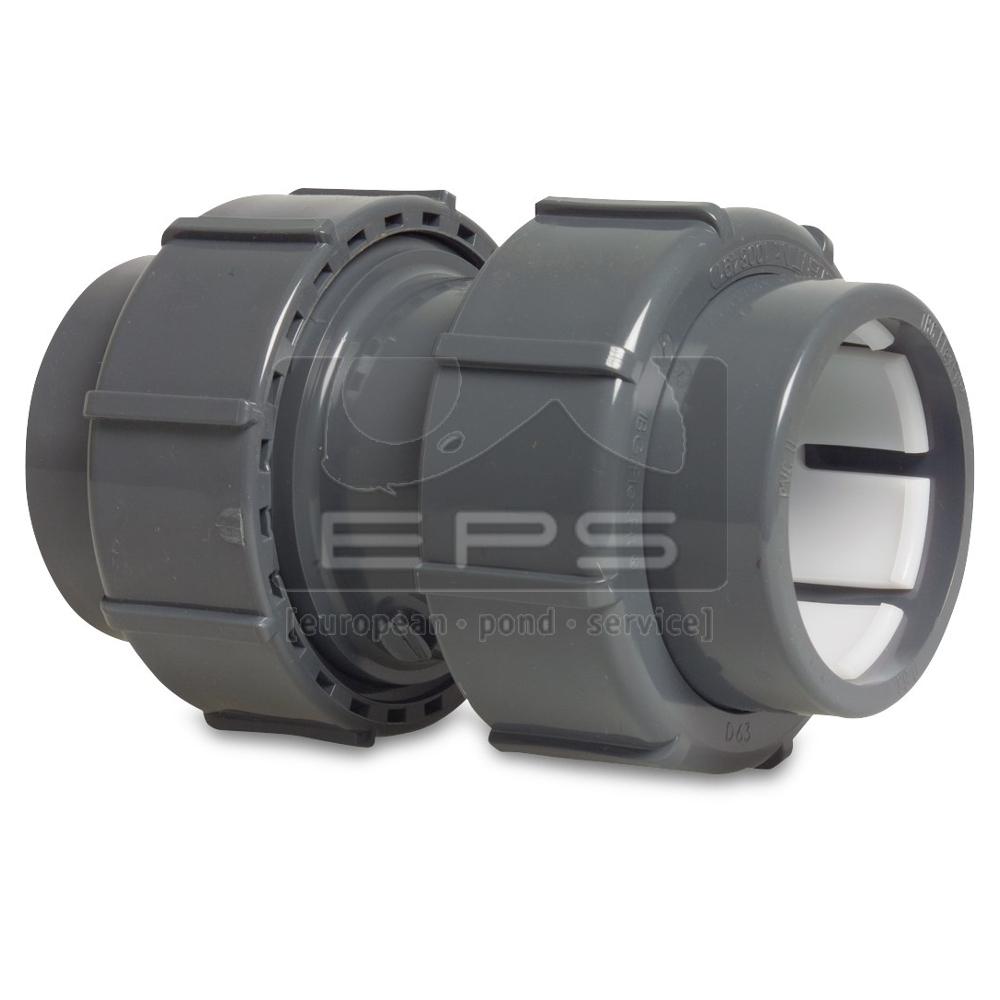 Flex-Fit PVC Doppelübergangs-verschraubung 50 x 50