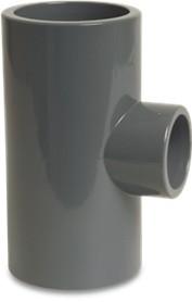 PVC T-Stück 90° reduziert 90 / 32 / 90 mm