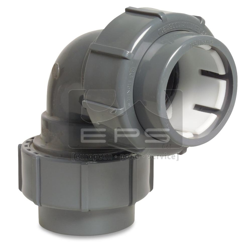 Flex-Fit PVC Winkel 90° / 50 mm
