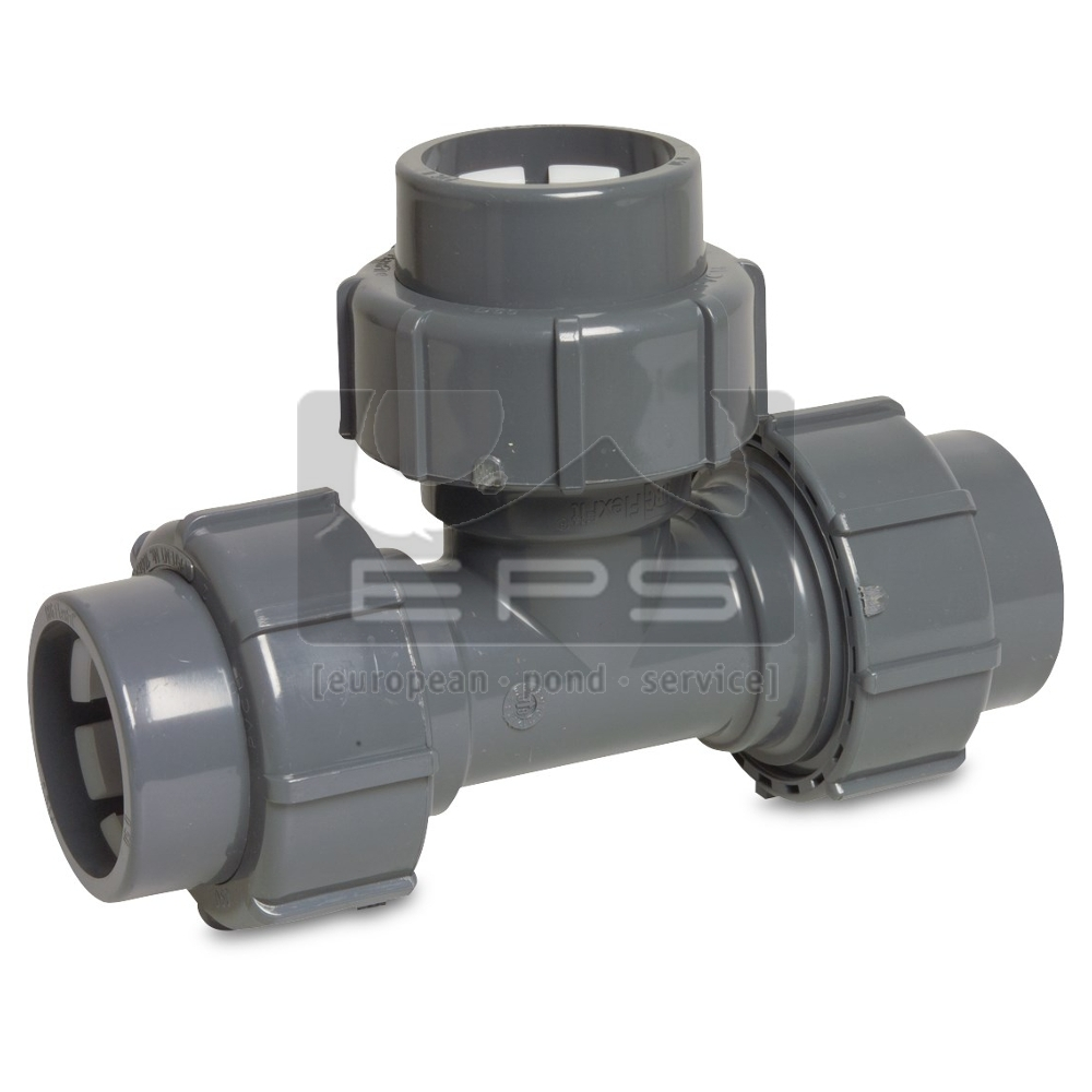 Flex-Fit PVC T-Stück 90° / 63 mm